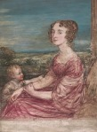 Mrs William Wilberforce and child, by John Linnell, 1824